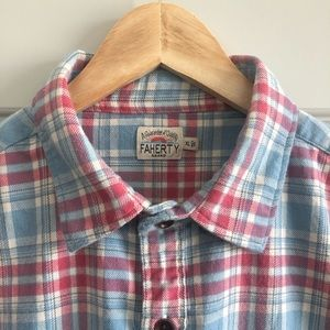 Faherty Mens Flannel Long Sleeve Button Up XL